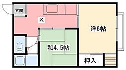 阪神マンション[306号室]の間取り