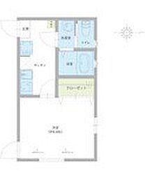 仮称)足立区西伊興1丁目新築アパート 1階1Kの間取り