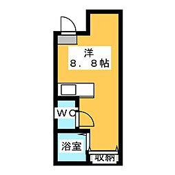 仮)宇都宮大寛1丁目アパート 1階ワンルームの間取り