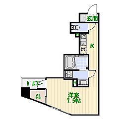 プレールドゥ—ク東京EAST[0602号室]の間取り