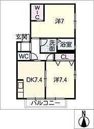 フラワーI[2階]の間取り