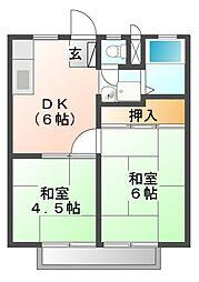 ツインコーポ前田[1階]の間取り