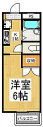みのり2[2階]の間取り