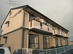 岡山県倉敷市平田丁目なしの賃貸アパートの外観