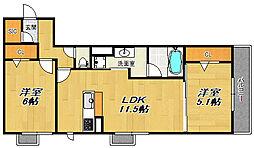ミリカ歌島[3階]の間取り