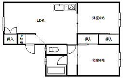 田島ハイツ _[2号室]の間取り