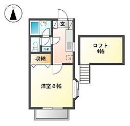 アビタシオンT 12b[2階]の間取り