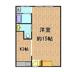 大上マンション[6階]の間取り