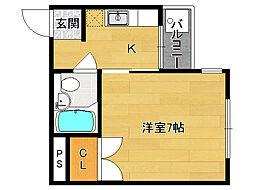 アンバーハウス四条[303号室]の間取り