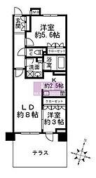 クリオ横浜杉田[1階]の間取り