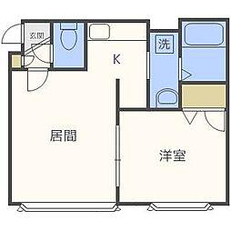 レイモンドハウス[1階]の間取り