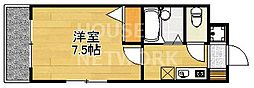ラフィネ松ヶ崎[201号室号室]の間取り