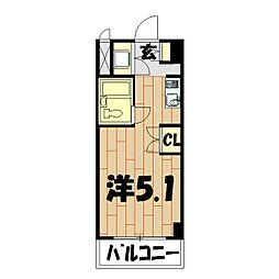 プロシード鶴ヶ峰[404号室]の間取り