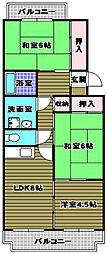 プレステージ北野田[2階]の間取り