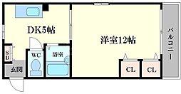 ロイヤル千林[3階]の間取り