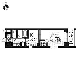 エステムプラザ京都烏丸五条604[6階]の間取り
