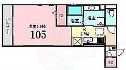 Osaka Metro今里筋線 瑞光四丁目駅 徒歩4分の賃貸アパート 1階1Kの間取り