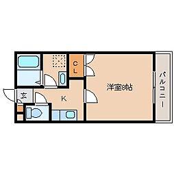 バンベ−ル五条[105号室]の間取り