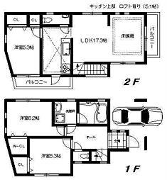 [一戸建] 東京都中野区新井2丁目 の賃貸【/】の間取り