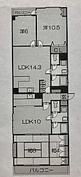 ライオンズマンション平沼[9階]の間取り