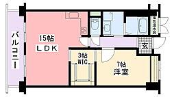 アプリーレ武庫川[208号室]の間取り