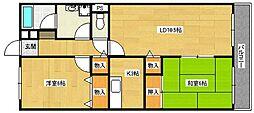 サンパティークセブンティスリー[2階]の間取り
