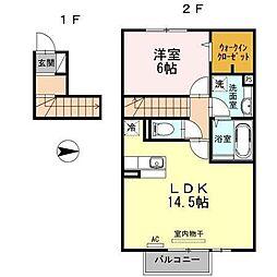 富山県富山市下新本町1丁目の賃貸アパートの間取り