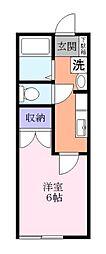 プランドールIS B棟[1階]の間取り