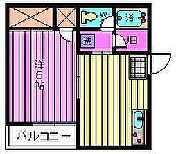 福岡ハイツ[201号室]の間取り