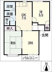 山の手ハウス[2階]の間取り