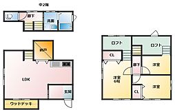 [一戸建] 三重県四日市市西坂部町 の賃貸【/】の間取り