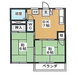フォーブル山本B[2階]の間取り
