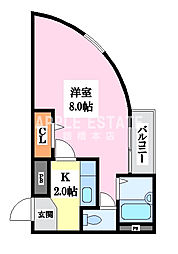 小阪駅前ヴィラデステ[6階]の間取り