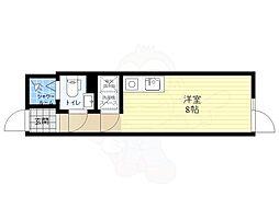 COCOFLAT ASAGAYA 3階ワンルームの間取り
