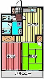 中川ハイツ[2階]の間取り