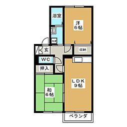 フォーラムワーゴ II[2階]の間取り