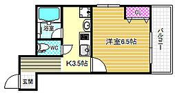 大阪府大阪市福島区海老江8丁目の賃貸マンションの間取り