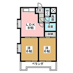 プランドールNI[2階]の間取り