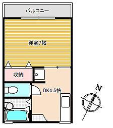 ビューハイツ青山[2階]の間取り