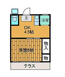 恵美荘[1階]の間取り