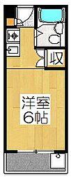 竹田ハイツ[203号室]の間取り