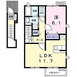アルワクトC[2階]の間取り