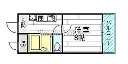 江坂垂水町福山ハイツ[1階]の間取り