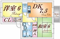 ビバーチェ須磨[1階]の間取り