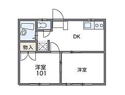 東京都文京区小石川3丁目の賃貸アパートの間取り