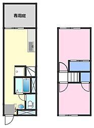 ハレアカラ[1階]の間取り