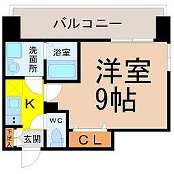 プレサンス錦通THE葵 10階1Kの間取り