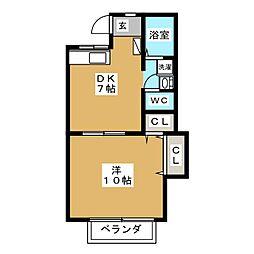 フラット大森 B棟[1階]の間取り