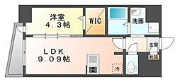 LAZO Kiyokawa[7階]の間取り