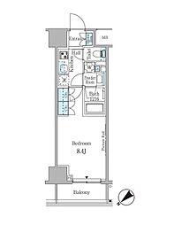 ルビア赤坂 4階1Kの間取り